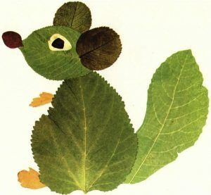 un esempio di lavoretti creativi con le foglie