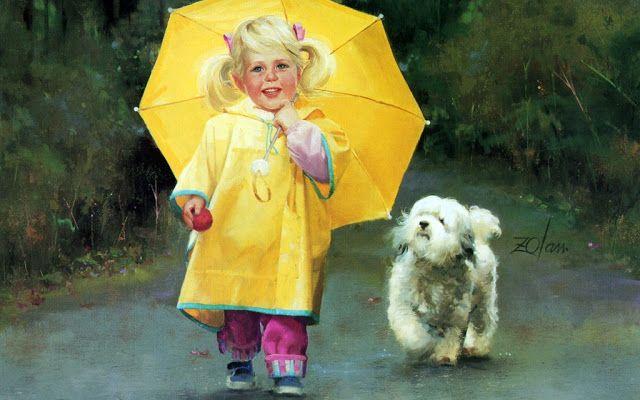 bambina felice quadro