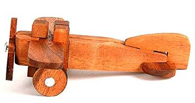 aeroplano rompicapo in legno