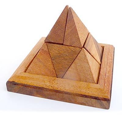 piramide rompicapo di legno