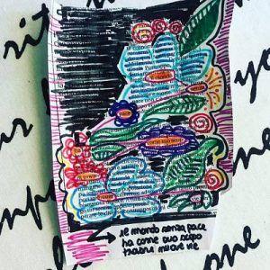 caviardage illustrato con poesia sulla pace