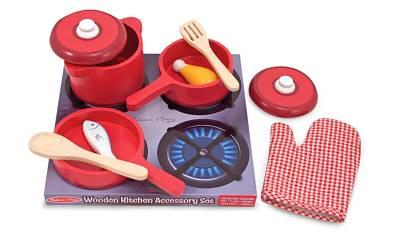 pentole giocattolo in legno per bambini