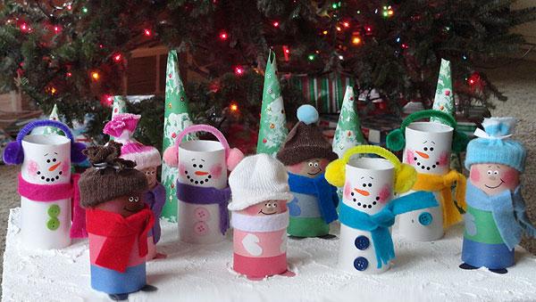 Lavoretti Di Natale Con La Carta Igienica.Lavoretti Di Natale Con I Rotoli Della Carta Igienica Portale Bambini