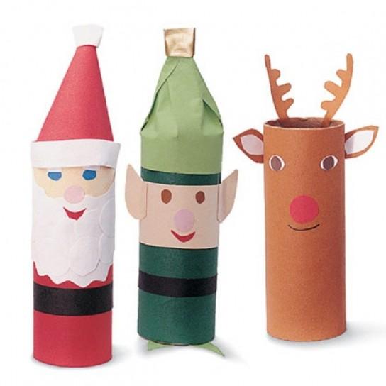 Lavoretti Di Cartoncino Per Natale.Lavoretti Di Natale Con I Rotoli Della Carta Igienica Portale Bambini