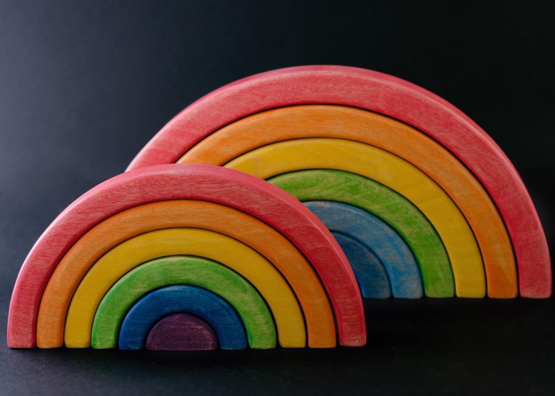 L arcobaleno steineriano imparare forme e colori - Arcobaleno a colori e stampa ...