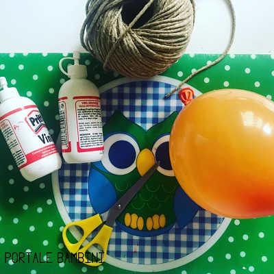palline di natale con spago e palloncino 1