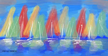 pittura con i colori a tempera