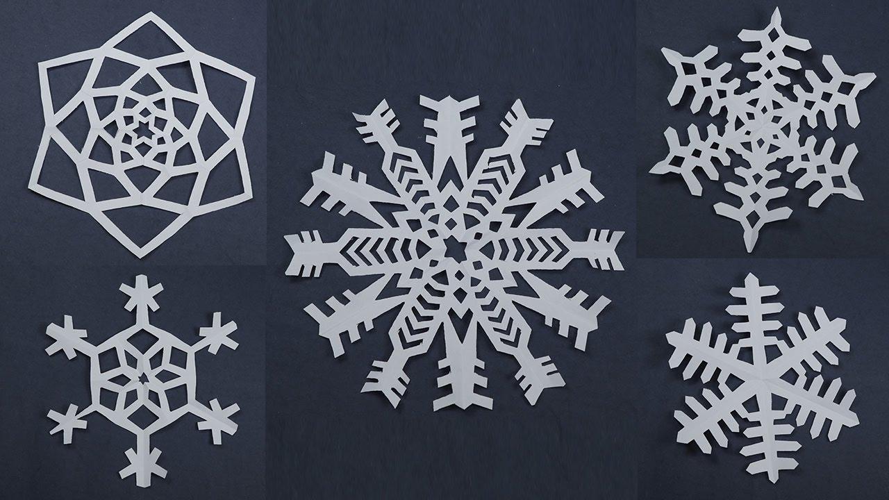 Fiocchi Di Neve Di Carta Modelli : Fiocchi di neve di carta realizzali con il foto tutorial