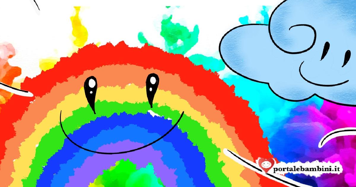 come è nato l'arcobaleno
