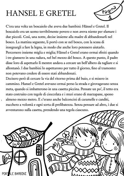 storie per bambini hansel e gretel 1