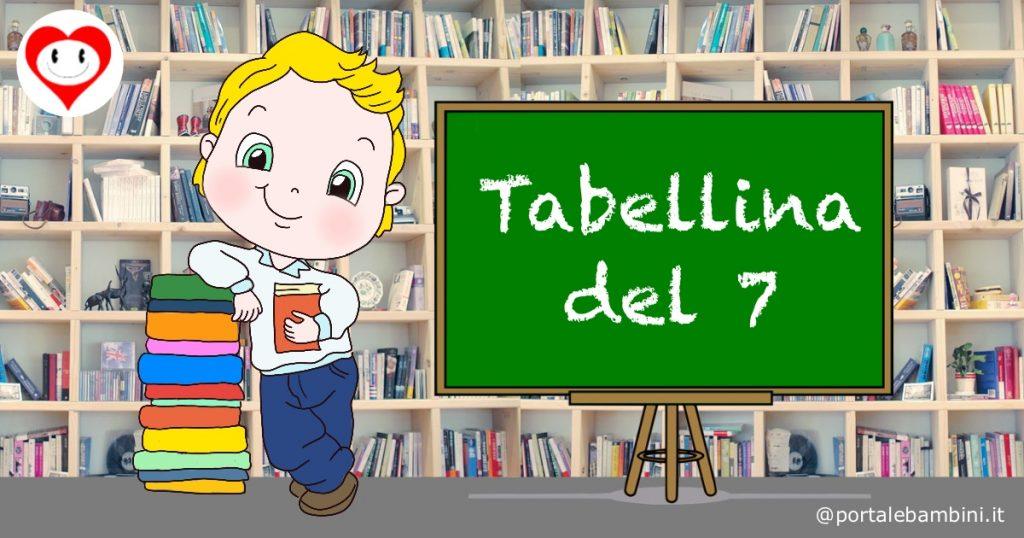 tabelline scuola primaria tabellina del 7