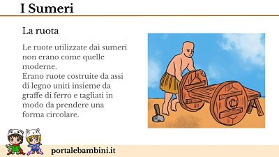 i sumeri scuola primaria invenzione della ruota