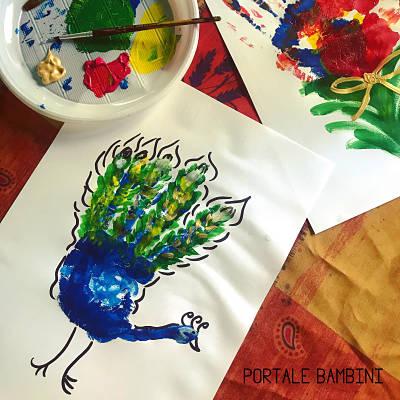 pittura con le mani