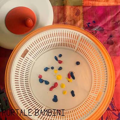 spin art bambini colori