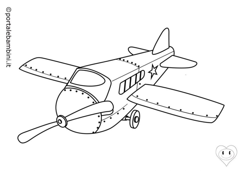 mezzi di trasporto da colorare aerei