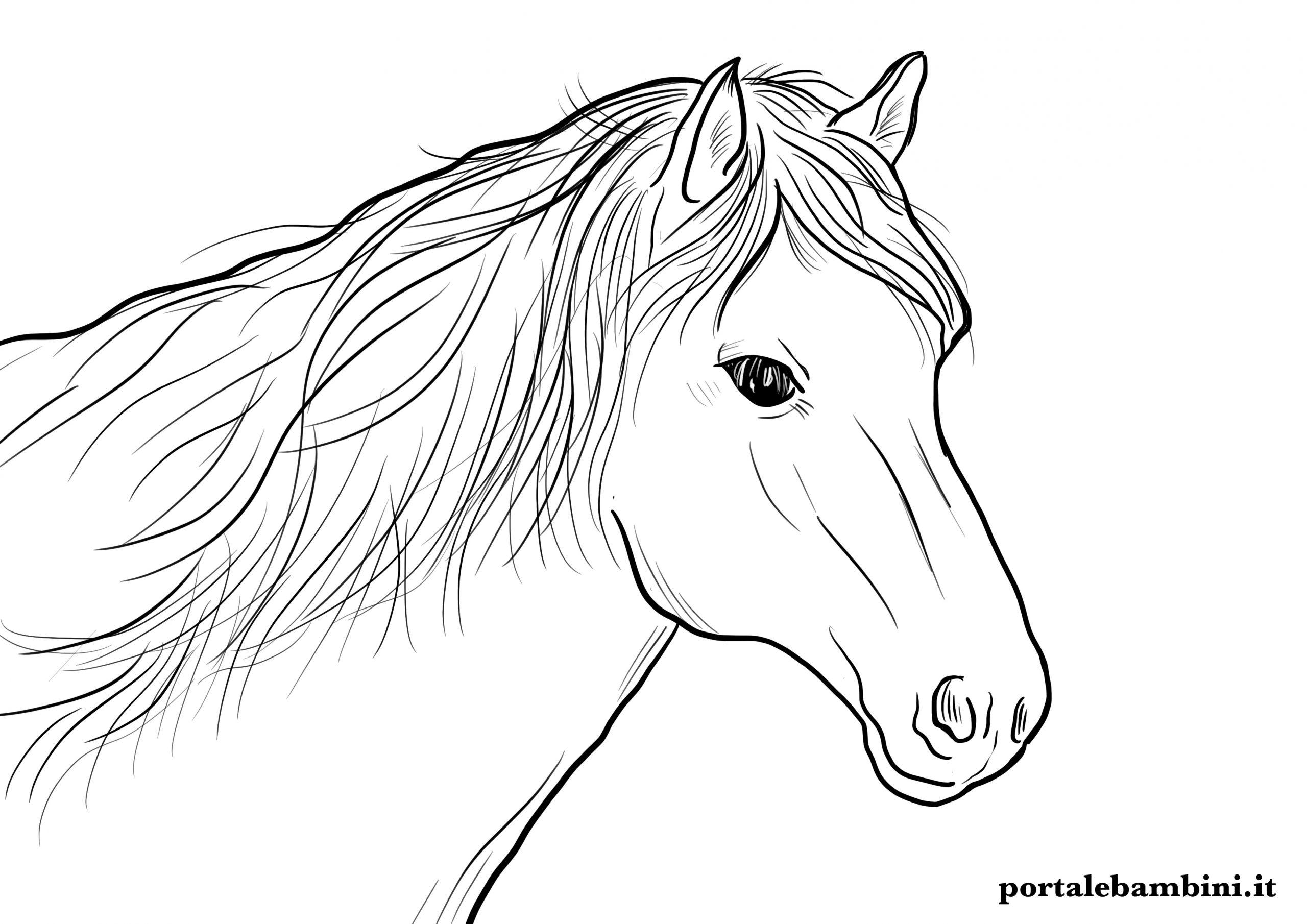 disegni di cavalli da stampare e colorare per bambini
