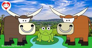 la rana e i due tori