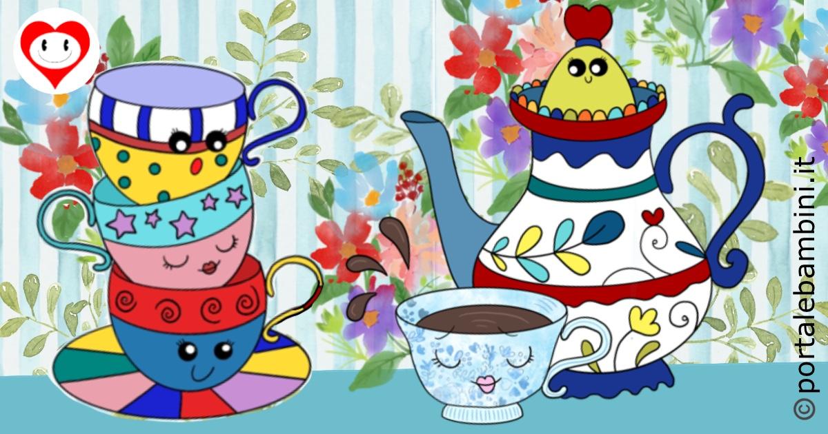 la tazza di porcellana