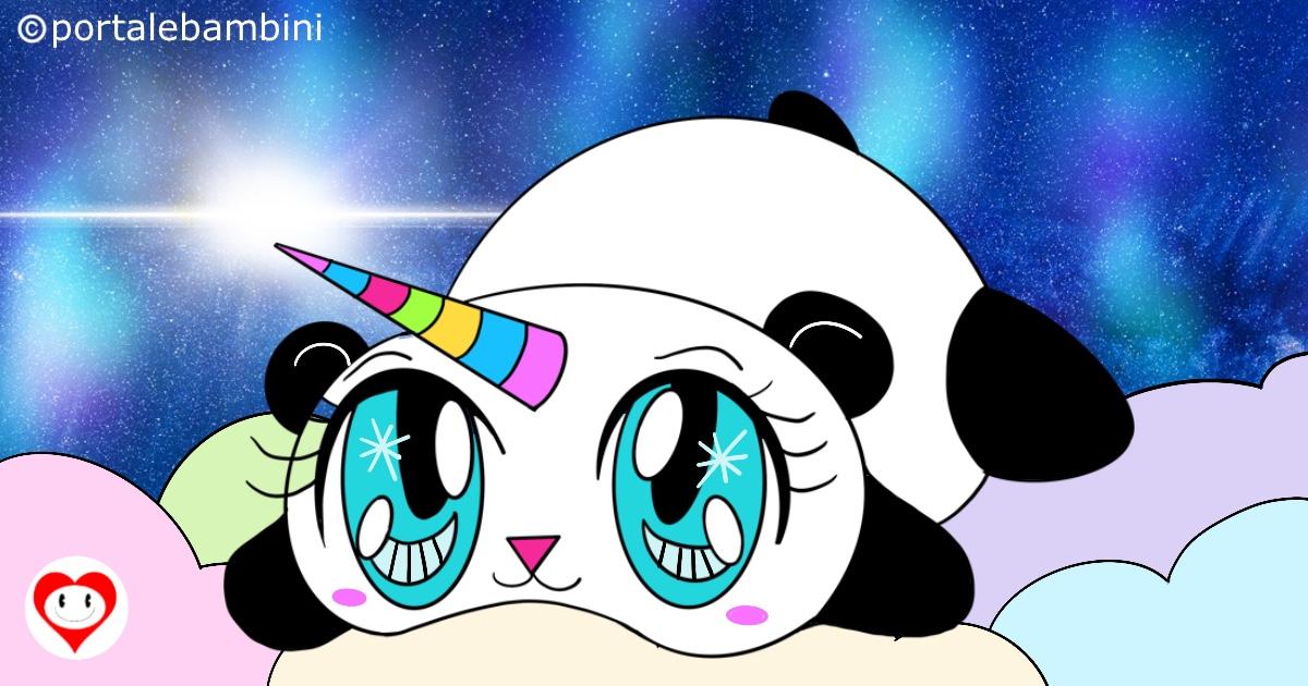 pandacorni da colorare