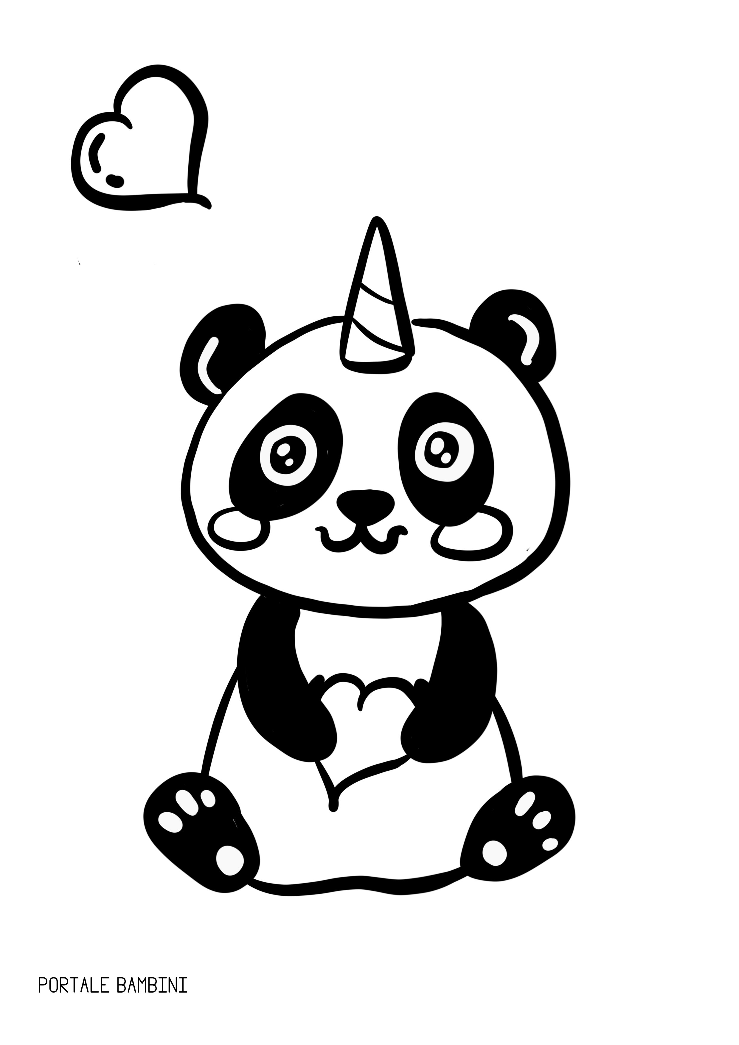 Pandacorno pandacorni da colorare e racconti portale for Sole disegno da colorare