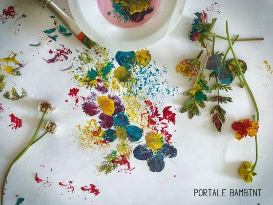pittura con i fiori dipingere con i fiori