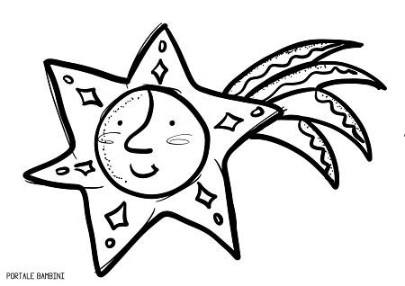 stella cometa da colorare