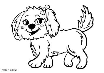 disegni di cani da colorare 1