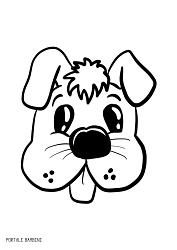 disegni di cani da colorare 3