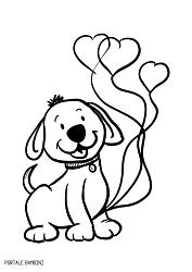 disegni di cani da colorare 4