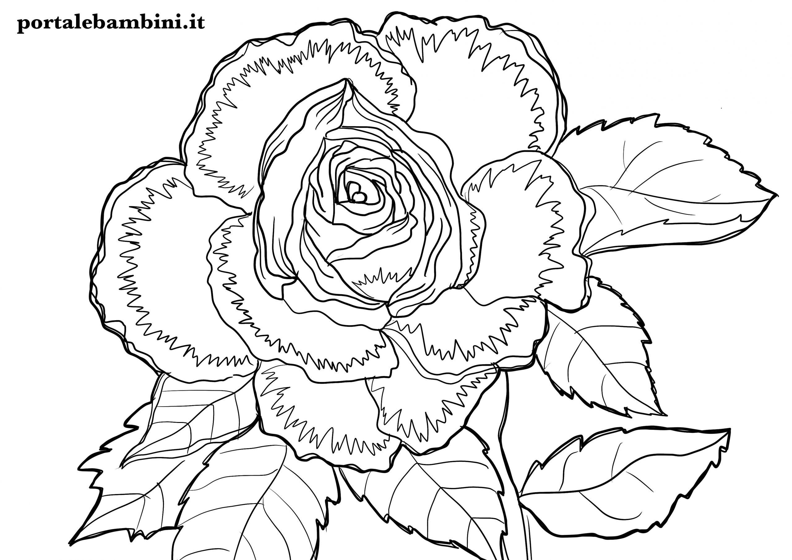 abbastanza Disegni di Fiori da Colorare | portalebambini.it FI01