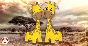 giraffe da colorare