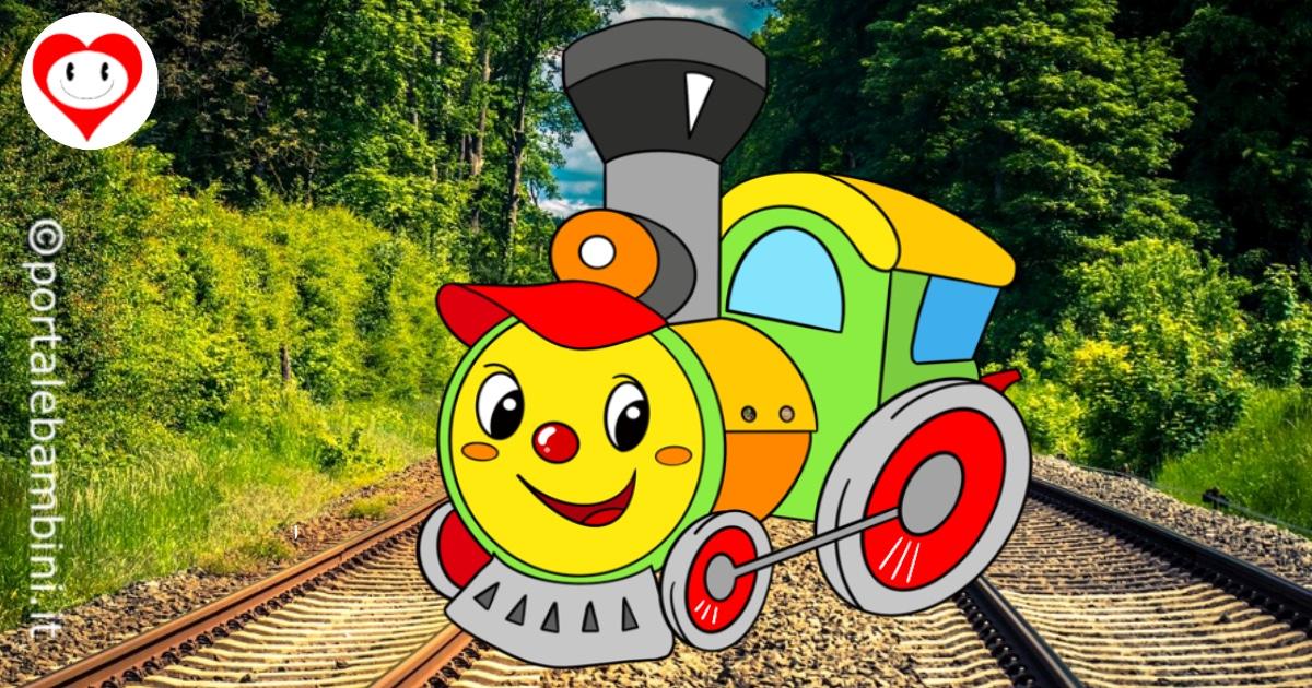 treni da colorare