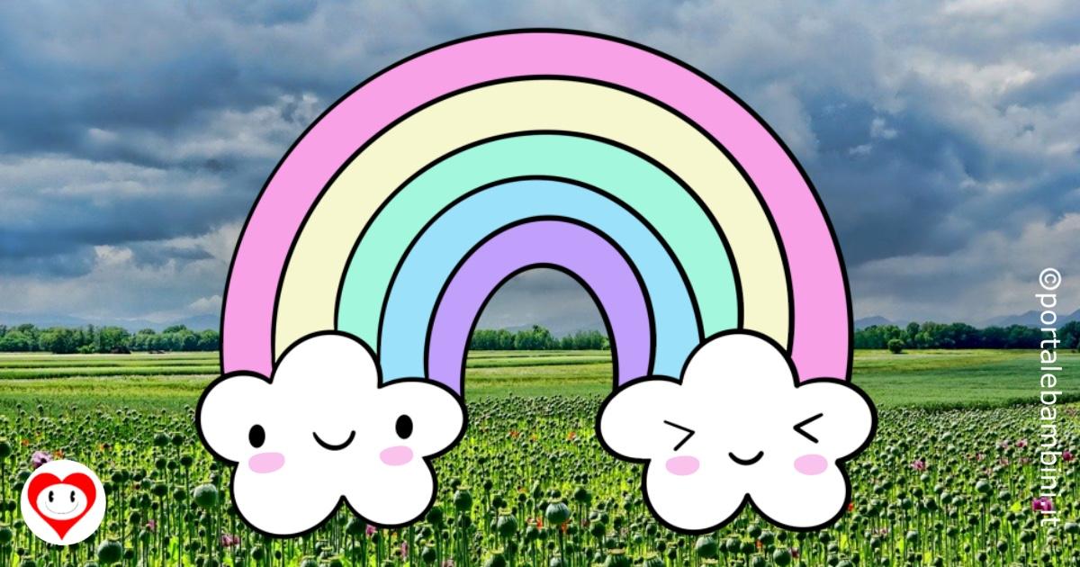 arcobaleno da colorare