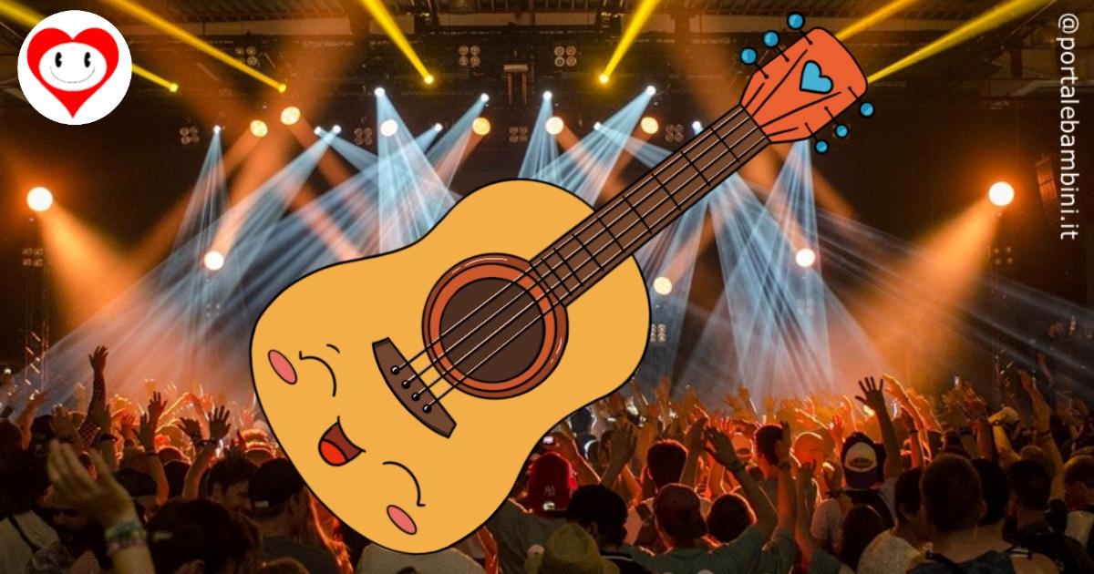 chitarra da colorare