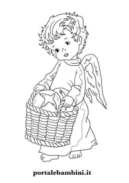 Disegni Di Angeli E Angioletti Da Stampare E Colorare Portalebambini It
