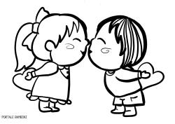 disegni di baci da colorare 1