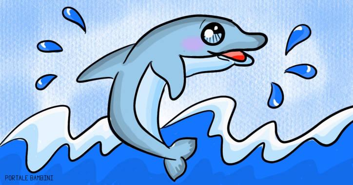 Disegni di delfini da stampare e colorare gratis for Neonati da colorare e stampare
