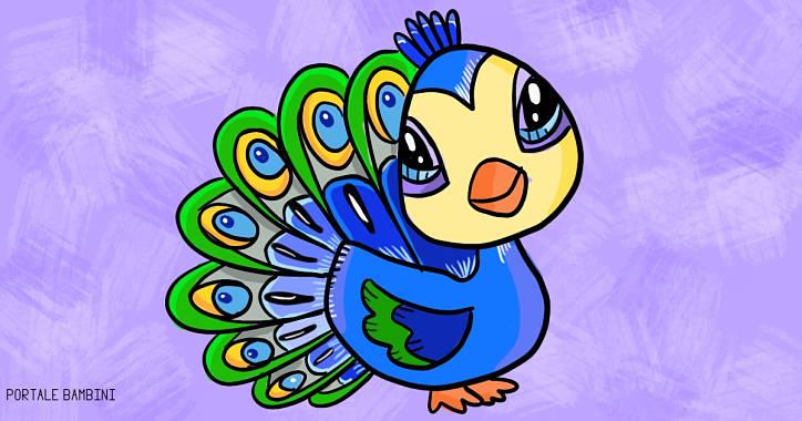 Disegni di pavoni da stampare e colorare gratis for Neonati da colorare e stampare