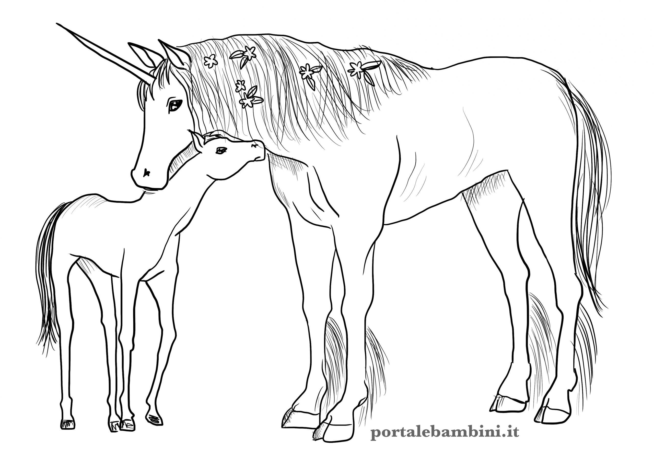 Unicorno Da Colorare.Disegni Di Unicorni Da Colorare Portalebambini It
