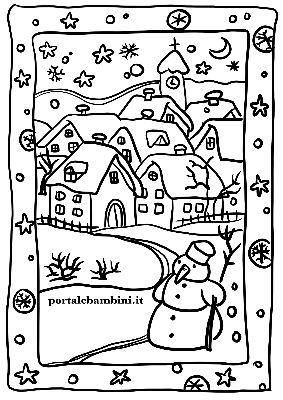 Disegni E Paesaggi Invernali Portalebambini It