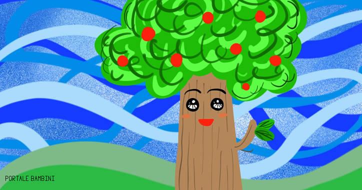 Le parti dell 39 albero con schede stampabili portale bambini for Foto di alberi da colorare