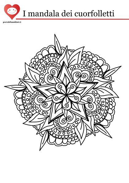 Disegni Da Colorare Mandala Da Stampare.Disegni Mandala Da Colorare Portalebambini It
