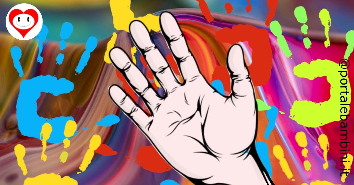 mano da colorare