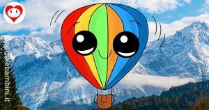 mongolfiere da colorare
