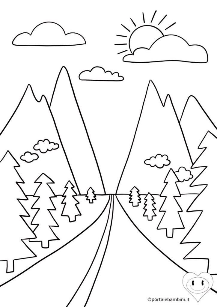 montagne da colorare 1