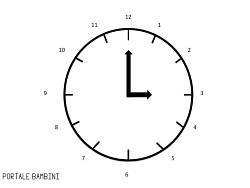 disegno orologio da stampare