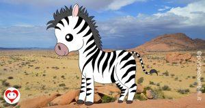 zebre da colorare