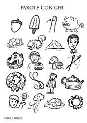 Parole con ghi lista schede e idee portale bambini for Parole con gi