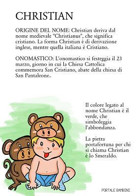 christian origine significato nome onomastico