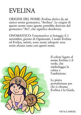 evelina origine significato nome onomastico